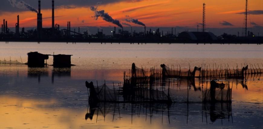Porto Marghera and Venice lagoon - Venice Italy